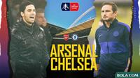 Piala FA - Arsenal Vs Chelsea - Head to Head Pelatih (Bola.com/Adreanus Titus)