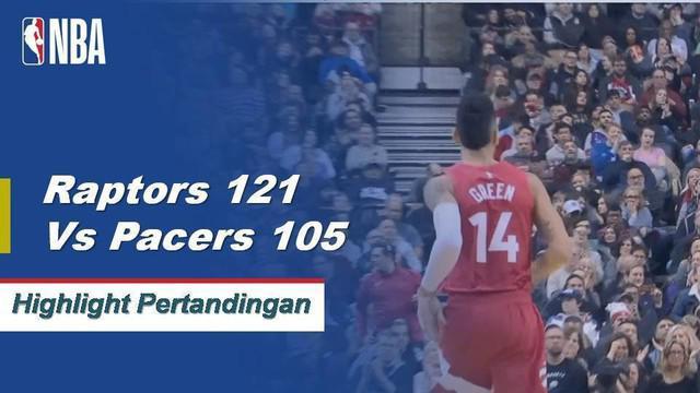 Norman Powell mencetak 23 poin saat Raptors mendapatkan kemenangan atas Pacers, 121-105.