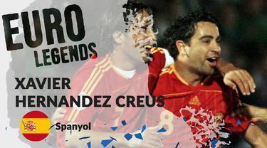 Berita motion grafis profil legenda Xavi Hernandez, gelandang visioner yang sukseskan Spanyol di Piala Eropa 2008 dan 2012.