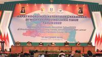 Rakor ketertiban dan keamanan di Jawa Timur (Foto: Liputan6.com/Dian Kurniawan)