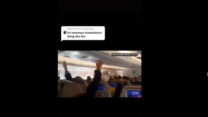Rangkaian video yang diklaim saat-saat terakhir penumpang Pesawat Sriwijaya Air