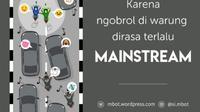 Ilustrasi Pengendara Berlalu-lintas (Gambar: Twitter/@mbot)