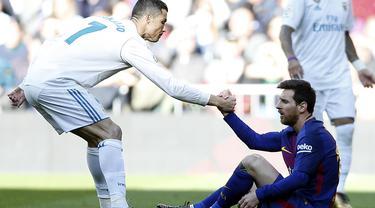 Cristiano Ronaldo dan Lionel Messi - Real Madrid vs Barcelona