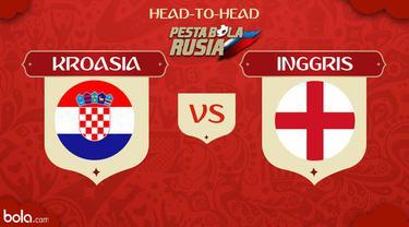 Berita video head-to-head Piala Dunia Rusia 2018: Kroasia vs Inggris.