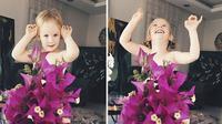 Kreasi sayuran dan bunga jadi gaun indah yang diciptakan oleh seorang ibu yang kreatif. (Foto: Instagram/@sea_stefani_sun)