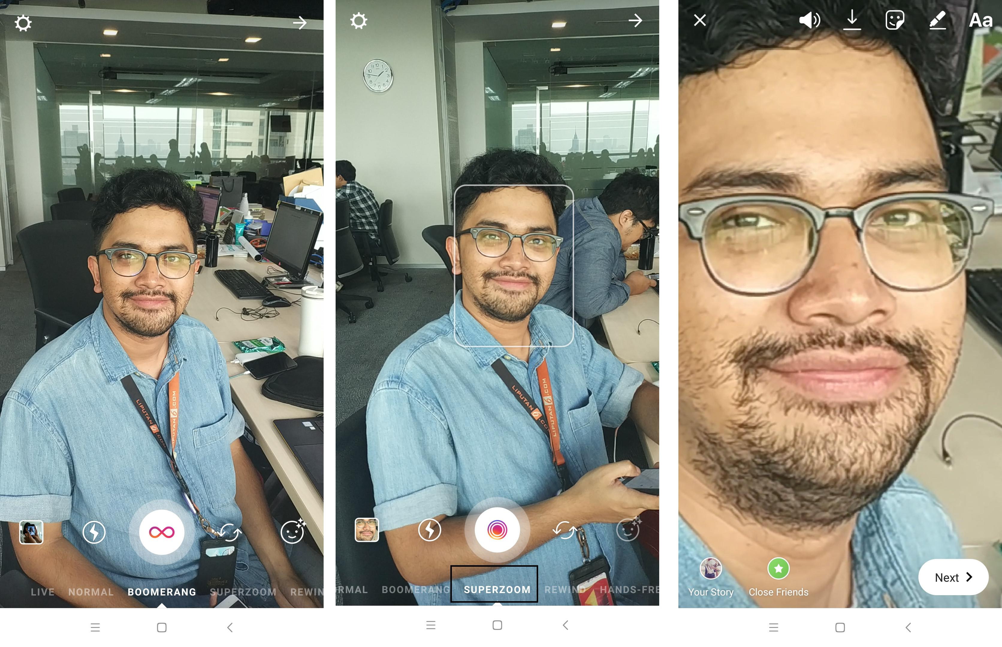 Instagram menghadirkan fitur Superzoom di Instagram Stories (Liputan6.com/ Agustin Setyo W)