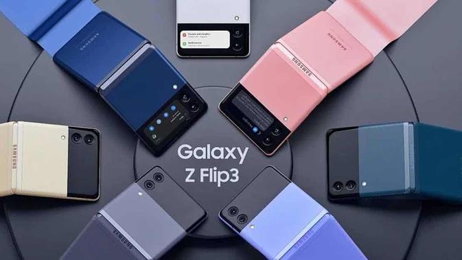 Gambar render Galaxy Z Flip 3. (Doc: Gizchina)