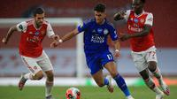 Laga Arsenal vs Leicester City (ADAM DAVY/POOL/AFP)