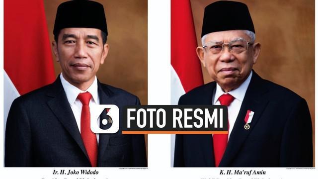 Video Setneg Rilis Foto Resmi Presiden Dan Wakil Presiden 2019 2024 News Liputan6 Com