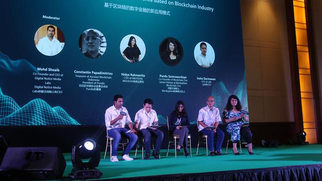 World Blockchain Forum yang diadakan di Hotel Ritz Carlton Pacific Place Jakarta. Liputan6.com/Keenan Pasha