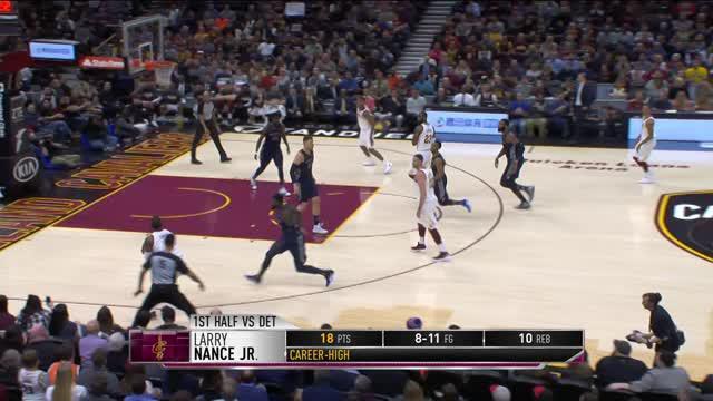 Berita video game recap NBA 2017-2018 antara Cleveland Cavaliers melawan Detroit Pistons dengan skor 112-90.