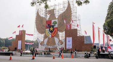 Replika Garuda Pancasila Setinggi 17 Meter
