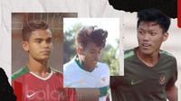 Irfan Jauhari, Feby Eka dan Miftahul Hamdi. (Bola.com/Dody Iryawan)