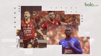 3 Calon Pemain Terbaik Liga 1 2019. (Bola.com/Dody Iryawan)