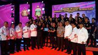 Peluncuran Jersey Bhayangkara FC (Liputan6.com / Luthfie Febrianto)