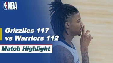 Berita video highlihts NBA, Memphis Grizzlies kalahkan Golden Stae Warriors 117-12, Sabtu (22/5/21)