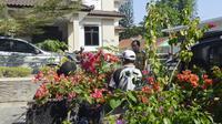 DPKPLH Banjarnegara menanam 600 batang bunga di Jalan Ahmad Yani, Banjarnegara. (Foto: Liputan6.com/Pemkab BNA/Muhamad Ridlo)