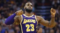 LeBron James memimpin Lakers kalahkan Suns di lanjutan NBA (AP)