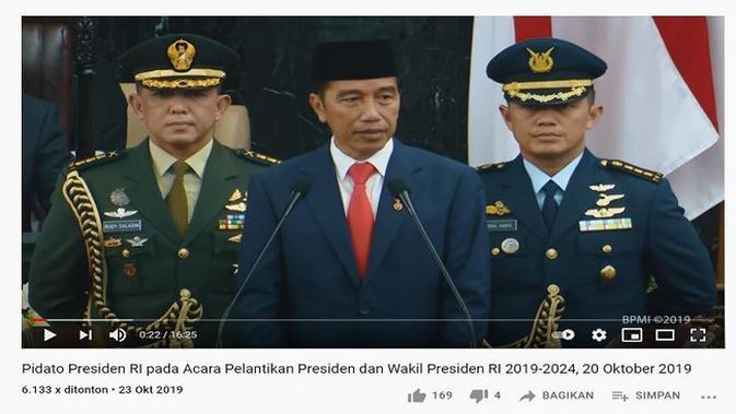 Gambar Tangkapan Layar Video dari Channel YouTube Sekretariat Presiden.