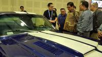 Meneteri Perindustrian Airlangga Hartarto hadir di acara IMX 2018