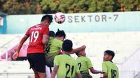 Laga uji coba antara Madura United kontra Sinar Harapan, Jumat (18/9/2020). (Dok. Madura United)
