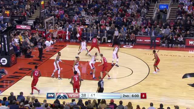 Toronto Raptors mengalahkan Washington Wizards dengan skor 100-91 dalam lanjutan pertandingan NBA 2017-2018.