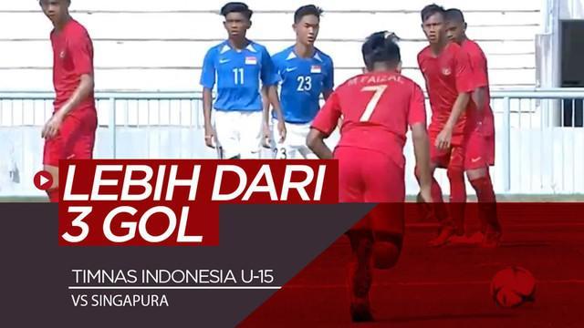 Berita video Timnas Indonesia U-15 seharusnya bisa menang lebih dari 3 gol saat menghadapi Singapura di Grup A Piala AFF U-15 2019. Apa alasannya?