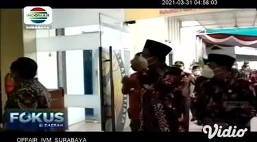 Pasca bom bunuh diri di Gereja Katedral Makassar, tim gabungan dari TNI, Polri dan Forkopimda Sidoarjo, Jawa Timur meningkatkan pengamanan gereja untuk mengantisipasi serta menjaga kamtibmas umat Kristiani yang akan merayakan ibadah Paskah pada 2-4 A...