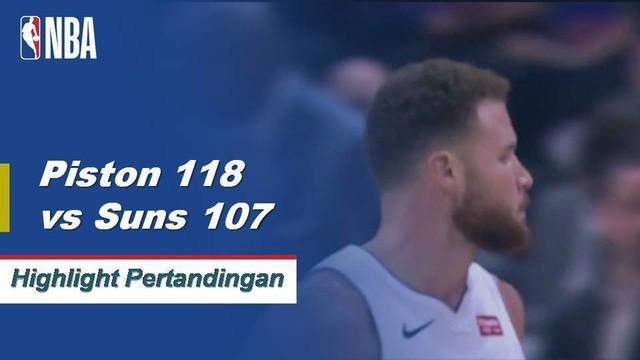 Devin Booker memasang 37 poin untuk Phoenix tetapi itu tidak cukup karena Andre Drummond membukukan 19 poin dan 16 rebound, memimpin Detroit ke kemenangan 118-107.