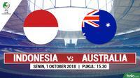 Jadwal Piala AFC U-16, Indnesia vs Australia. (Bola.com/Dody Iryawan)