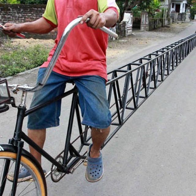 6 Modifikasi Nyeleneh Sepeda Ini Bikin Heran Dan Ketawa Geli Hot Liputan6 Com