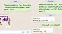 6 Chat Dosen Iseng ke Mahasiswa Ini Bikin Geregetan (sumber: Instagram.com/receh.id)