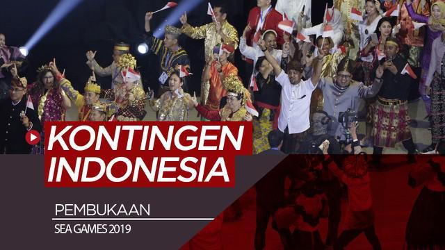 Berita video penampilan kontingen Indonesia saat acara pembukaan SEA Games 2019, Sabtu (30/11/2019).