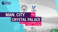 Premier League Manchester City Vs Crystal Palace (Bola.com/Adreanus Titus)