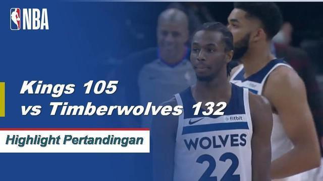 Sembilan pemain untuk skor Minnesota dalam angka ganda ketika Timberwolves menang atas Kings, 132-105.