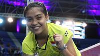 Tunggal putri Indonesia, Gregoria Mariska, lolos ke semifinal Kejuaraan Dunia Junior 2017 di Yogyakarta. (PBSI)
