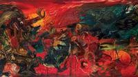 Bolo Buto, sebuah lukisan yang menggambarkan keseraman sosok buto yang dianggap simbol kejahatan karya Nasirun. (foto: Liputan6.com / edhie prayitno ige)