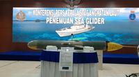 Penampakan drone bawah air atau seaglider yang ditemukan di perairan Sulawesi Selatan. (Foto: Istimewa).