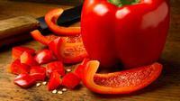 Paprika merah sayuran yang pedas