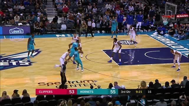 Charlotte Hornets mengalahkan Los Angeles Clippers dengan skor 102-87 dalam lanjutan pertandingan NBA 2017-2018.