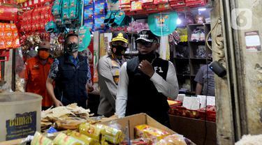 FOTO: Wali Kota Bogor Cek Penerapan Protokol Kesehatan di Pasar Ciawi