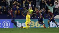 Barcelona menelan kekalahan 4-5 dari Levante dalam laga lanjutan La Liga di Estadio Ciudad de Valencia, Senin (14/5/2018) dini hari WIB. (AP Photo/Alberto Saiz)