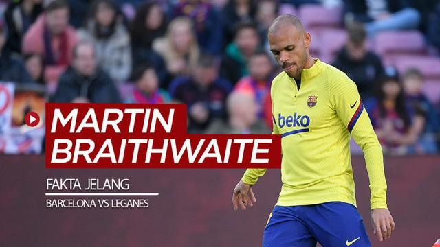 Berita video 4 fakta soal striker Martin Braithwaite jelang laga pekan ke-29 La Liga antara Barcelona melawan Leganes pada Rabu (16/6/2020) dini hari WIB.