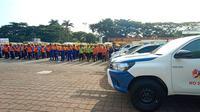 Apel siaga PLN Unit Induk Distribusi (UID) Banten,  di Alun-alun Barat Kota Serang, Banten, Jumat (20/12/2019). (Yandhi/Liputan6.com)