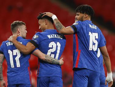 FOTO: Inggris Hancurkan San Marino 5-0 dalam Laga Pembuka Kualifikasi Piala Dunia 2022 - Ollie Watkins; Tim Inggris