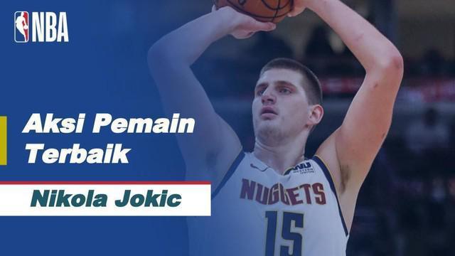 Berita video aksi terbaik NBA hari ini adalah Nikola Jokic yang membukukan 47 poin tertinggi dalam karirnya, bersama dengan 11 rebound dan 5 assist untuk Nuggets saat mereka mengalahkan Jazz, 128-117.
