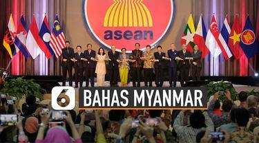KTT ASEAN kali ini akan membahas situasi yang masih memanas di Myanmar.