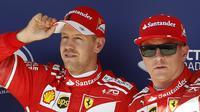 Presiden Ferrari, Sergio Marchionne, mengonfirmasi pihaknya akan memutuskan masa depan Sebastian Vettel dan Kimi Raikkonen setelah F1 GP Italia. (AP Photo/Darko Bandic)