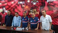 Konferensi Pemilihan (KP) menggelar konferensi pers di Kantor PSSI, FX Sudirman, Kamis (17/10/2019). (Bola.com/Muhammad Adiyaksa).
