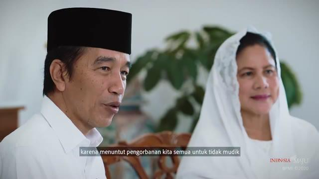 Presiden Joko Widodo dan Ibu Negara Iriana Joko Widodo mengucapkan selamat hari raya Idul Fitri 1 Syawal 1441 Hijriah yang jatuh bertepatan pada Minggu, 24 Mei 2020.